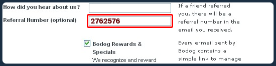 Bodog Referral Number